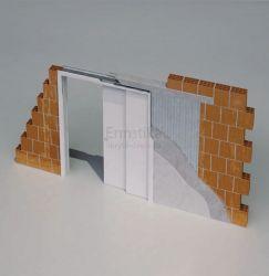 Stavební pouzdro do zdi 1250/1970/170 STAFFETTA Ermetika pro posuvné dveře 1-stranné