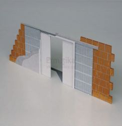 Stavební pouzdro do zdi 1650/2100/90 EVOLUTION Ermetika pro posuvné dveře dvoukřídlé