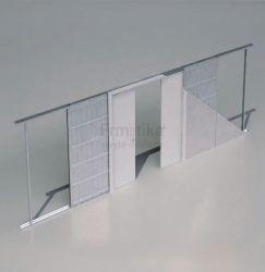Stavební pouzdro do zdi 2050/1970/107 EVOLUTION Ermetika pro posuvné dveře dvoukřídlé