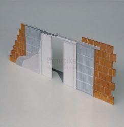 Stavební pouzdro do zdi 2050/2100/107 EVOLUTION Ermetika pro posuvné dveře dvoukřídlé