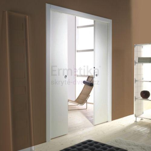 Stavební pouzdro do zdi 2450/2100/107 EVOLUTION Ermetika pro posuvné dveře dvoukřídlé