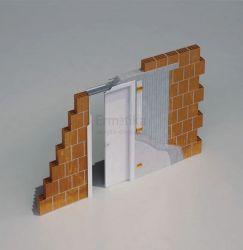 Stavební pouzdro do zdi 600/1970/150 LUMINOX Ermetika pro posuvné dveře 1-křídlé