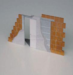 Stavební pouzdro do zdi 825/2100/105 ABSOLUTE EVO Ermetika pro posuvné dveře 1-křídlé