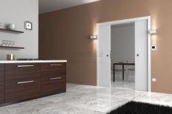 Stavební pouzdro do SDK 2050/2100/180 LUMINOX Ermetika pro posuvné dveře 2-křídlé