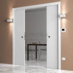 Stavební pouzdro do SDK 2450/2100/180 LUMINOX Ermetika pro posuvné dveře 2-křídlé