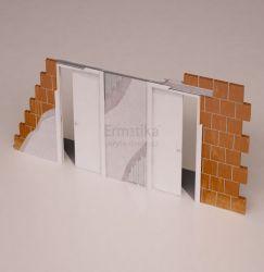 Stavební pouzdro do zdi 1000+1000/2100/180 UNICO EVO Ermetika pro posuvné dveře 2-křídlé
