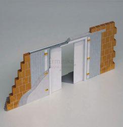 Stavební pouzdro do zdi 1850/1970/150 LUMINOX Ermetika pro posuvné dveře 2-křídlé