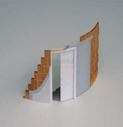 Stavební pouzdro do zdi 800/2100/105/R2000 ARKIMEDE Ermetika pro posuvné dveře 1-křídlé