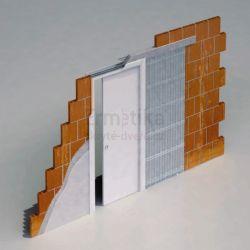 Stavební pouzdro do zdi 1200/2100/107 EVOLUTION Ermetika pro posuvné dveře jednokřídlé