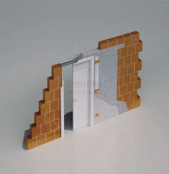 Stavební pouzdro do zdi 700/1970/150 LUMINOX Ermetika pro posuvné dveře 1-křídlé