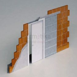 Stavební pouzdro do zdi 900/1970/107 EVOLUTION Ermetika pro posuvné dveře jednokřídlé